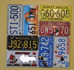 License Plate Memo Board