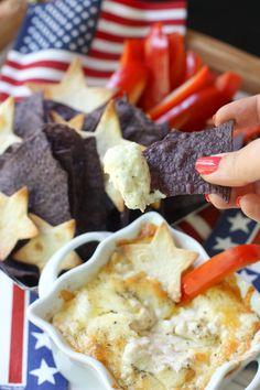 4th of July Appetizer: White Cheddar  Vidalia Onion Dip