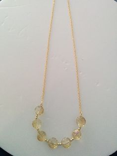 Gold Plated Glass Necklace £7.99