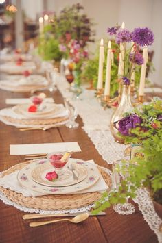 002 rustic table setting