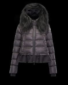 Women Moncler Black Veanne Fur Trim Classic Bomber Jacket Tokyo Fashion,  New York Fashion, d69dc395fe1