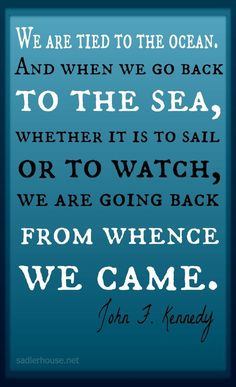 We are tied to the ocean. I love this quote by JFK. We know the feeling! Come back to the sea and spend your vacation with us in beautiful Rockland, Maine! Click through for travel tips and information on booking without service fees at our family-friendly vacation rental. #vacationrental #Maine #coastal #family