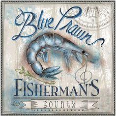 Blue Prawn (shrimp) Fisherman's Bounty #art