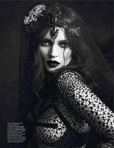 73 Haute Gothic Editorials - From Modern Femme Fatale Fashion to Eerie Etherealism Editorials (TOPLIST)