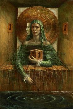 """Jake Baddeley """"The silent pool"""" Oil on canvas, Eugenia Loli, Magic Realism, Visionary Art, Surreal Art, All Art, Painting & Drawing, Oil On Canvas, Fantasy Art, Book Art"""