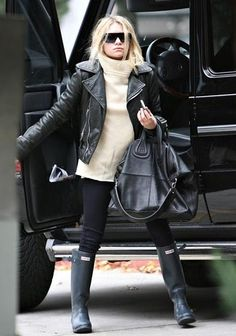 ways i can wear my hunter boots ... olsen twin