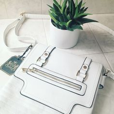 ✨HOST PICK✨Deluxity Minimalist Crossbody Handbag Deluxity Modern Minimalist Crossbody Handbag. Love this bag so much! Has 3 interior holding areas, fits an iPad, zipper pocket in the back and zipper closure on top, adjustable strap. Small marking as seen in 3rd pic. Faux leather, faux zipper detail in front. NWT Deluxity Bags Crossbody Bags