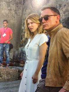 "lovedanielcraigme: "" imsohappyicouldcry: "" Daniel Craig and Léa Seydoux behind the scenes, Spectre (2015) "" Daniel Craig and Léa Seydoux in Morocco by Spectre """
