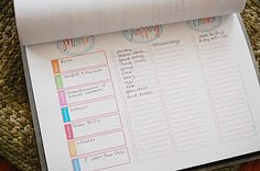 Daily organization printables -- this actually seems like it could work (for me).
