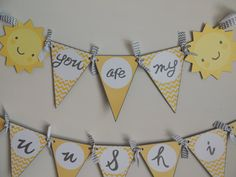 You are my sunshine banner by angiespartycreations on Etsy, $38.00 Second Birthday Ideas, Third Birthday, First Birthday Parties, First Birthdays, Sunshine Baby Showers, Classroom Themes, Classroom Displays, Kids Church, You Are My Sunshine