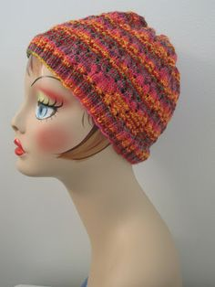 Balls to the Walls Knits: Dimpled Eyelet Hat