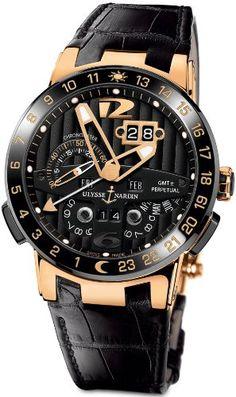 New Mens Ulysse Nardin El Toro 18k Rose Gold Limited Edition Perpetual Calendar Automatic COSC Black Watch 326-03 Ulysse Nardin,http://www.amazon.com/dp/B00HVNOMZ8/ref=cm_sw_r_pi_dp_TeKhtb0EBMX6DDA5