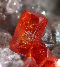 Vanadinite, Hamburg Mine, Silver District, Trigo Mts, La Paz Co., Arizona, USA. Fov 3 mm. Copyright: Christian Rewitzer
