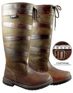 Rowan & Oak full grain leather, waterproof country boot. Available in 2 calf fittings in sizes 3-8. From £144.95