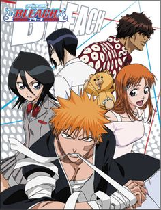 """Bleach Group Throw Blanket  Keep yourself warm with the cast of Bleach. Get your throw blanket featuring some of the most popular characters from Bleach including Ichigo Kurosaki, Rukia Kuchiki, Orihime Inoue, Yasutora """"Chad"""" Sado, Kon, and Uryu Ishida. Perfect for fans of all ages!"""
