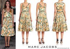 Marc Jacobs Multicolor Rose-print Silk Cocktail Dress