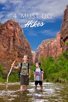 Listed below are the Top 4 Hikes and Trails in Zion National Park. These are the game changers. The Must-Do's. What are you waiting for?