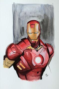 Iron man by adi granov iron man рисунки Comic Book Artists, Comic Book Characters, Marvel Characters, Comic Books Art, Comic Art, Comic Poster, Marvel Dc, Marvel Comics, Stan Lee