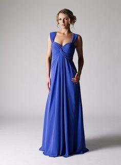 blue grecian dress