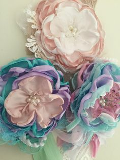 Pretty In Pink, Flower Fabric, Tejidos, Pink, Handmade Gifts, Hand Made, Flowers, Manualidades, Bebe