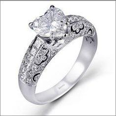 heart shape engagement ring simon G 2