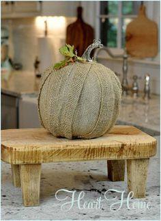 Pumpkin Craft - Burlap Pumpkin