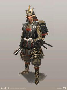 Samurai Concept, Armor Concept, Fantasy Armor, Medieval Fantasy, Dnd Characters, Fantasy Characters, Concept Art Books, Ninja, The Last Samurai