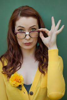 """Felicia Day, actress, creator of """"The Guild"""" web series. She inspires me to create my own projects for myself as an actress and to write what I know."""
