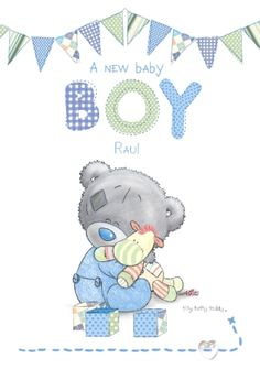 Tiny Tatty Teddy - Baby Boy Bunting | Funky Pigeon