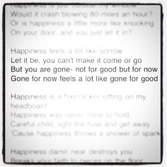 Happiness- The Fray   A picture I instagramed.... https://twitter.com/#!/@hannahshu