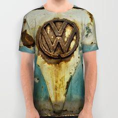 VW Rusty All Over Print Shirts #tees #VW #Volkswagen #shirt #tshirt #clothing #fashion #camper #bus #rust #retro