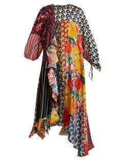 fb7abfa2ee0d Biyan Arista patchwork silk-blend dress Dyi