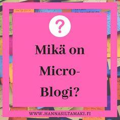 Tunnetko olosi kiireiseltä etkä aina ehdi blogata? Kokeile kirjoittaa miniblogia! Micro-blogi tarkoittaa blogia, jota päivitetään lyhyesti. Micro-blogia eli miniblogia voit pitää vaikka Instagramissa. Jaa aiheeseen sopiva kuva ja kirjoita blogiteksti suoraan kuvaukseen. Muista hyödyntää tägejä, jolloin tekstisi tavoittaa juuri oikeat ihmiset. Instagramin miniblogin voi jakaa myös suoraan Facebook-sivullasi, näin se tavoittaa enemmän lukijoita. Mistä sinä bloggaisit tänään? #blogi #microblogi Calm, Youtube, Instagram, Youtubers, Youtube Movies