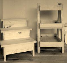 Escalerilla y bancos para exhibir tus agradecimientos o decorar tus mesas!!