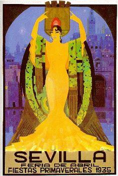By Juan Balceras de Fuentes, 1935, Sevilla, Fiestas de primavera.