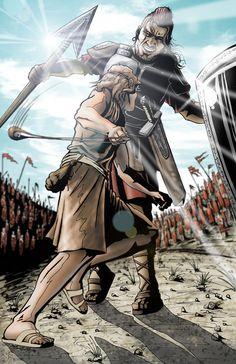 Ilustração Davi e Golias