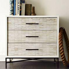 Wood Tiled 3-Drawer Dresser #Promotion