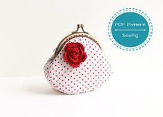coin purse pattern, sewing pattern, frame purse, easy sewing tutorial for curved frame purse, 8 cm frame on Etsy, £3.30