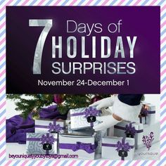 7 days of holiday surprises are coming your way! 😱🎁🎄 Starting Thursday, November 24 we'll be revealing one ready-to-gift bundle each day, so check back here each day so you don't miss out!  Share this post to spread the word!