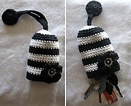 Crochet Patterns Bags and Purses~Flower Key Cozy!