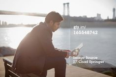 Title: Man using tablet computer outdoors Creative image #: 165548742 License type: Royalty-free Photographer: Image Source RF/Chad Springer Collection: Image Source Credit: Image Source RF/Chad Springer Release information:This image has a signed model and property release. This image is available for commercial use.