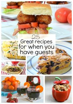 Company headed your way? Pin this list of great meal ideas and you won't have to scramble to figure out what to serve!