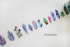 Gemstone Washi Tape(30mm x 5m) by TheWashiShop on Etsy