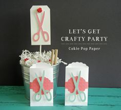 Let's Get Crafty Party by Angi Barrs #silhouettecameo #papercrafts #silhouettedesignteam