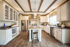 We LOVE the gorgeous open feel of this beautiful kitchen! 58FRE32663EM • 1958 sq.ft • 3 Beds • 2 Baths  #Kitchen