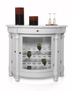 Vineyards Wine Cabinet In White