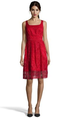 Dress, flare cut<br/>red