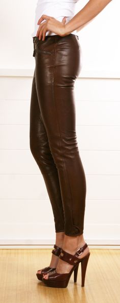 The series brown leather pants! Yes Ralph Lauren!