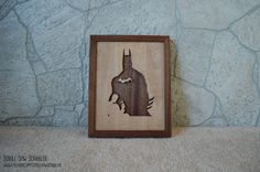 Handmade Batman wall hanger made of maple and walnut wood.    Approx. dimensions 12 x 9 1/2 x 1.25    All items are handmade to order and