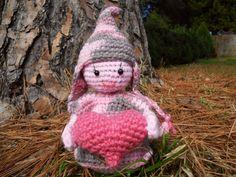 Amigurumi Pink Gnome by TripleZDesign on Etsy,